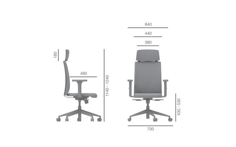 Cadeira escritorio giratoria julcar