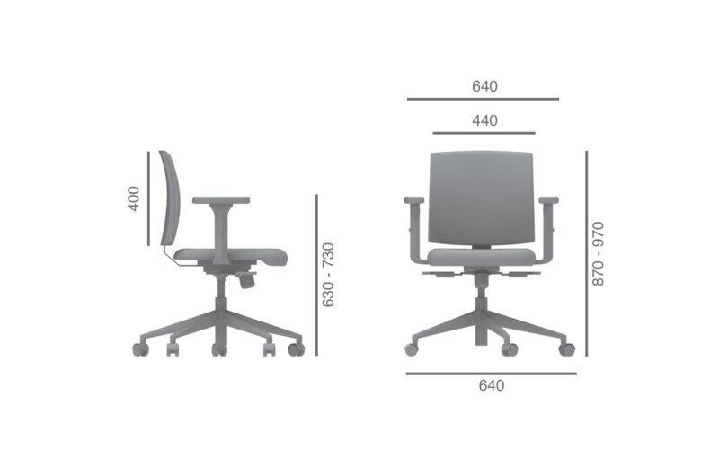 Cadeira comfort julcar escritorio