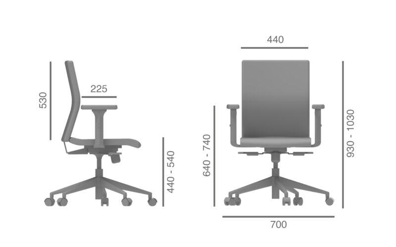 H1 julcar cadeira escritorio