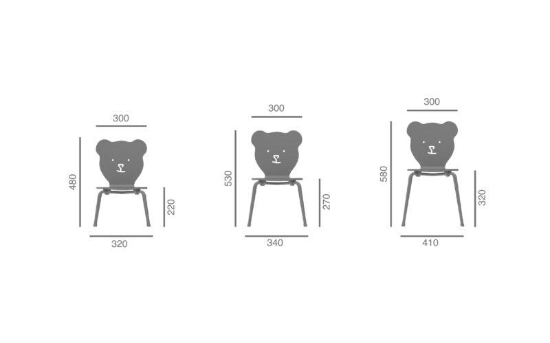 cadeira criança urso julcar children chair